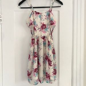 Dresses & Skirts - Floral Cutout Strappy Sundress